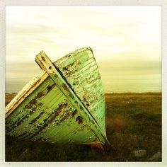 Abandoned blue boat, Lower Island Cove, Newfoundland, Canada Newfoundland Canada, Newfoundland And Labrador, Canada Eh, Visit Canada, Backpacking Canada, Canada Travel, Fogo Island Inn, Canada Holiday
