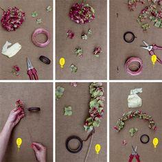 DIY-couronne hortensias