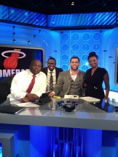 """On the set of ESPN's """"NUMBERS NEVER LIE"""" with my boy HUGH DOUGLAS, MICHAEL SMITH and Jemele Hill. 2013"""