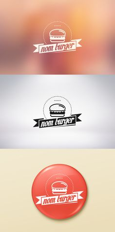 Nom Burger Logo by Jesse Echevarria, via Behance