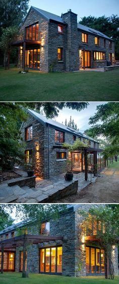 28 Ideas for house exterior ideas stone modern farmhouse Stone Houses, Stone Barns, Modern Farmhouse, Modern Barn, Farmhouse Design, Country Farmhouse, Country Living, Farmhouse Trim, English Farmhouse