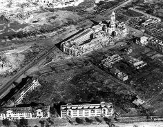 Manila in ruins 1945 Philippines Culture, D Day, South Pacific, Manila, Aerial View, Ancient History, World War Ii, Wwii, City Photo