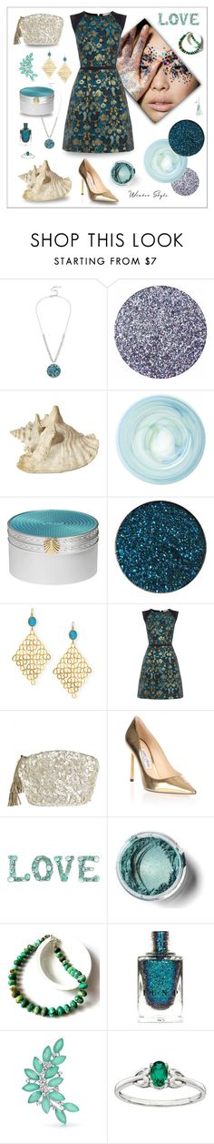 """""""Winter Siren"""" by magnolialily-prints ❤ liked on Polyvore featuring Kenneth Cole, Wedgwood, Devon Leigh, Oasis, Flora Bella, Jimmy Choo, Bling Jewelry and 7II"""