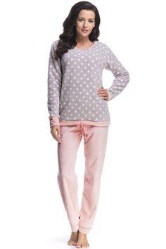 Piżama w grochy marki DOBRNOCKA / Pajamas in dots / 148,80 PLN #pajamas #nightclothes #dots #dobranocka