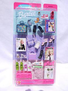 Barbie Fashion Avenue Accessory Bonanza NIP Music, Art, Beach Items 2001 for sale online Mattel Barbie, Barbie Girl, Barbie Doll Set, Baby Barbie, Doll Clothes Barbie, Barbie Style, Barbie Dream, Disney Barbie Dolls, Barbie Fashionista