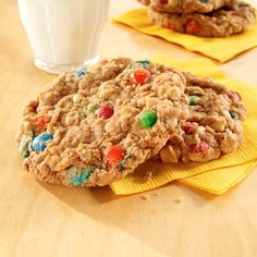 Sure, game days call for yummy appetizers. But who doesn't love cookies too? These old-fashioned candy and oatmeal cookies are the perfect sweet tooth satisfier.