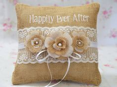 Happily Ever After Country Rustic Shabby by SewDelightfulPillows