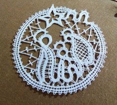 Lace Heart, Lace Jewelry, Freeform Crochet, Bobbin Lace, Xmas, Christmas, Lace Detail, Crochet Earrings, Butterfly