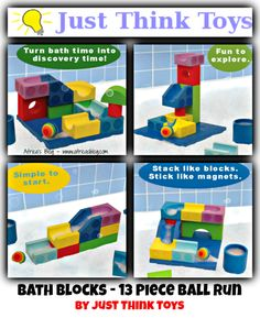 Bath Blocks - 13 Piece Ball Run Set by Just Think Toys ~ Review & Giveaway!! (ends 4/19)