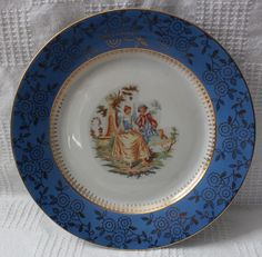 The markings on the back includes a crowned bird with the initials MZ on either side and a K beneath it. We believe this mark to be comparable to that of Moritz Zdekauer. Currier And Ives, Romania, Decorative Plates, Queen, Dishes, Bird, Tableware, Vintage, Ebay