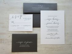 A fresh and stylish blend of calligraphy and type to perfectly compliment your personal unique wedding fashion! There is nothing like a handwritten