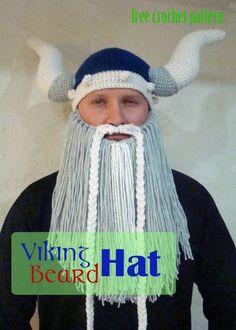 Free Crochet Pattern - Viking Beard Hat!