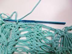 Novelândia: Blusa ondas do mar- Com Cores da Purafibra