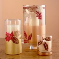 Holiday Harvest Hurricanes #craft #fall