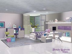 Trendy Bedroom by Ung999  http://www.thesimsresource.com/downloads/1180532