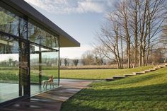 glazed contemporary extension - Mill House - Kent - Guy Hollaway