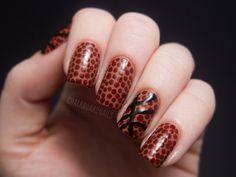 Chalkboard Nails: Basketball Nails