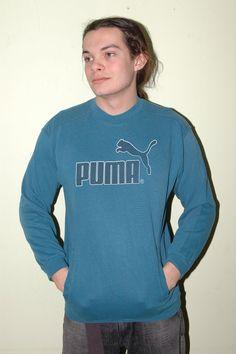 Vintage PUMA Sweatshirt Logo Cool  16 Big by iansvintagetreasury, $16.00