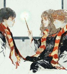 Recueil de fanarts Harry Potter - Le trio