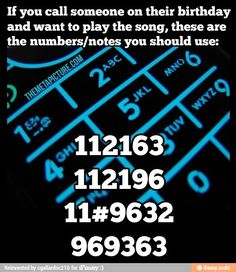 how to play the birthday song with numbers
