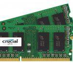 KIT Barrette Mémoire RAM DDR3L CRUCIAL 8Gb (2 x 4Gb) à 33  Bonjour  Bon plan sur de la mémoire RAM DDR3L destiné au PC portable NUC et autres mini machines.  Il sagit dun KIT CRUCIAL de 2 barrettes de 4Gb (2 x 4Gb) qui est disponible pour 33.99 au lieu de plus de 40.  KIT CRUCIAL 8Gb (2 x 4Gb) à 33.99  Spécifications :  8 Go (2 x 4 Go)  CL11  SODIMM 204PIN  135V/15V  Idéal pour booster votre machine !  Noubliez pas toutes les ventes flash spéciales maison connectée sont accessibles ICI…