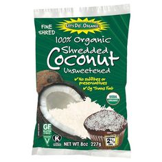 The perfect dessert topper, Let's Do... Organic Shredded Coconut adds a delectable texture and taste to any type of cake or cupcake. For a finer taste, there are no sulfites, preservatives or trans fat. Just 100% organic, unsweetened coconut.