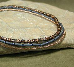 Beaded Ankle Bracelet Set  by StoneWearDesigns