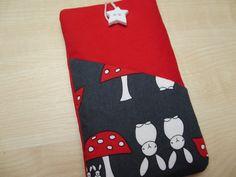 Cute rabbits iPhone 5 sleeve,Xperia cover,Fabric phone case,Nokia phone…