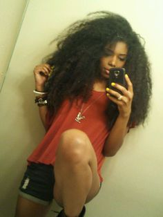 Chime's massive mane of hair, 3 years since the big chop!