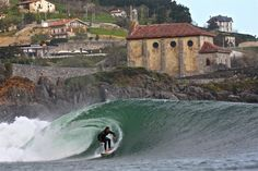 Mundaka is a town and municipality located in the province of Biscay, in the autonomous community of Basque Country, northern Spain. On the coast, Mundaka is internationally-renowned for its surfing scene.