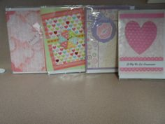 VALENTINE GREETING CARDS WITH ENVELOPES. 4 CARDS IN SPANISH. NEW