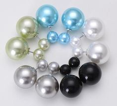 """FREE!! 5 pairs of Fashion Stud Earrings """"FANCY"""" in 3 color combinations. You only hav to pay for shipping."""