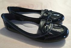Womens Size 9 NWOB L.L. Bean Coastal Flats, Black Patent Leather Shoes, Loafer. $29.99