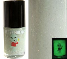 Firefly Glitter Nail Polish - Glow In The Dark and Holo - Handblended Sparkly Nail Color