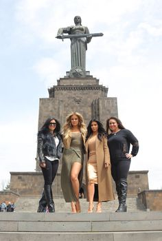 The Kardashians take Armenia Check for a full gallery:  http://m.nydailynews.com/entertainment/kardashians-armenia-gallery-1.2179514