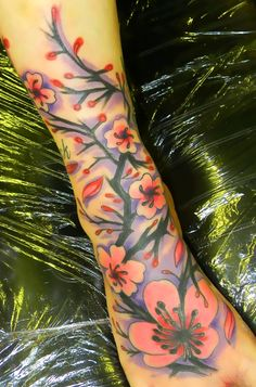 The beginning of a cover up on my foot..this is going to go all the way up my leg with some cool Japanese houses, a Geisha girl with a sunset, etc...gonna be ROCKIN'!