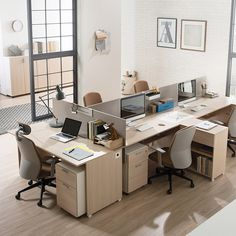 Open Office Design, Small Office, Office Interior Design, Office Interiors, Shared Office, Startup Office, Modern Villa Design, Office Floor, Office Workspace