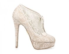 Charlotte Olympia Minerva Lace Platform Booties Heels [Charlotte Olympia Minerva] - $150.00 : High class ladys Shoes