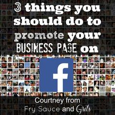 Three things you can do to promote your business page on Facebook