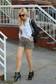 caged heels.  cute shorts   & denim/leather.    sold. <3