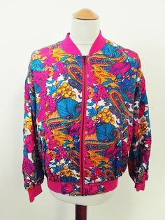 Vintage Bright Colourful Rave Shellsuit Tracksuit Top Jacket M
