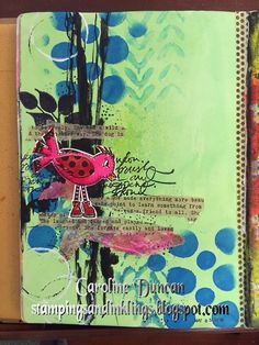 art journal page by Caroline Duncan ~ Stampings and Inklings ~ dina wakley media #dinawakleymedia