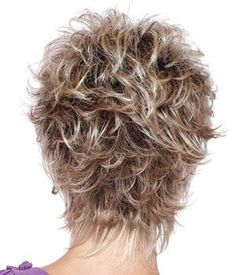 KAMI 005 Affordable Razored-Top Women Short Wavy Layered Pixie Wig for Ladies Short Hair With Layers, Short Wavy, Short Hair Cuts For Women, Short Curly Hair, Layered Hair, Curly Hair Styles, Wavy Pixie, Thick Hair, Straight Hair
