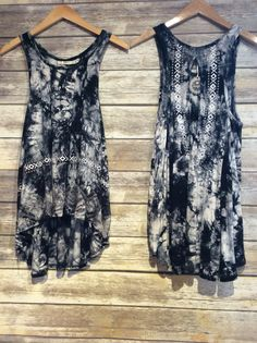 """Bohemian Tie-Dye High/Low Tank"" #boholooks #tops #farmrjohnsboutique #womensfashion #boutique"