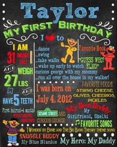 Birthday Invitation Sesame Street Theme by sweetharvestonline