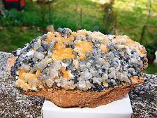 - Minerali Grezzi Cristalloterapia - CERUSSITE fluorescente con BARITE (2)