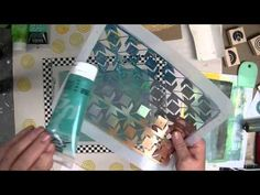 Cloth Paper Scissors -- Gelli Printing JumpStart Journal Demo -- Part 1 -- Gelli Prints for Signatures - YouTube  Making double sided gelli prints to use as signatures in the journal and printing on fabric for the cover.