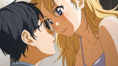 Shigatsu wa Kimi no Uso - Kaori and Kousei. There's a real tension and intensity between these two sometimes. -albinoid