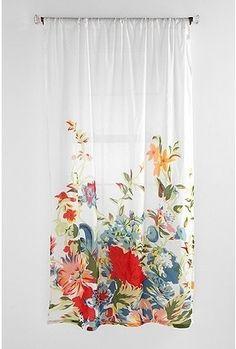 Romantic Floral Scarf Curtain - StyleSays