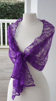 Etole écharpe foulard châle pour femme en dentelle de coloris mauve   agréable  pour mariage soirée cérémonie nouvelle collection été 2018 289608d1c85